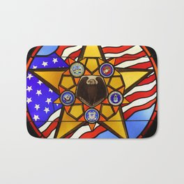 United States Armed Forces Glass Mosaic Bath Mat