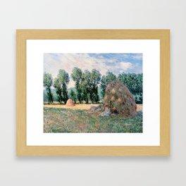 Haystacks by Claude Monet Framed Art Print