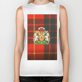 RED & GREEN CAMERON TARTAN ROYAL SCOTLAND Biker Tank