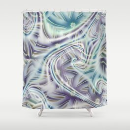 Abstract Shards Fractal Shower Curtain