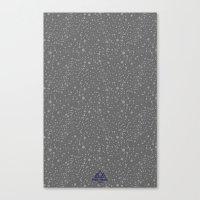 Trail Status / Stone Grey Canvas Print