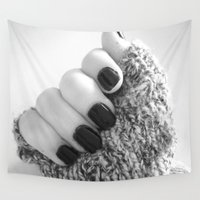 sweater Wall Tapestries featuring Sweater Paws by Bee's Photography