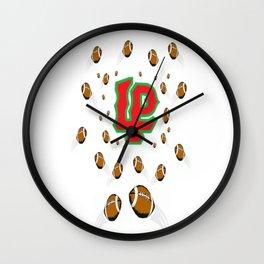 LaSalle Peru High School Football Wall Clock