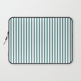 Forget Me Not Blue Pinstripe on White Laptop Sleeve