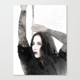 Asia Dragon Lady Canvas Print