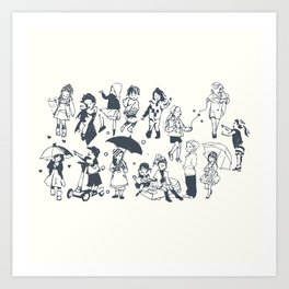 Moments of Children Art Print