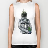 cacti Biker Tanks featuring Cacti | Spaceman No:1 by FAMOUS WHEN DEAD