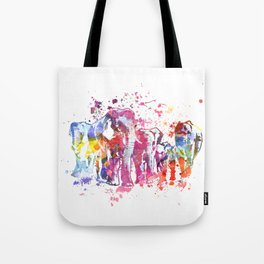 Elephants Splash Tote Bag
