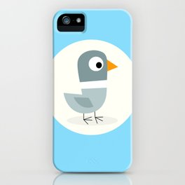 Mr Bird Blue iPhone Case