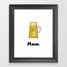 Mmm. Bier Framed Art Print