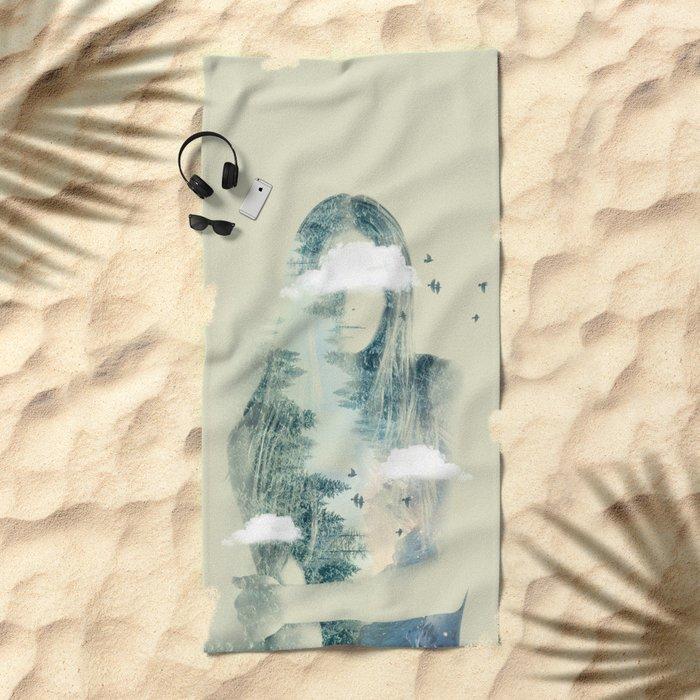 Natures Heart Beach Towel