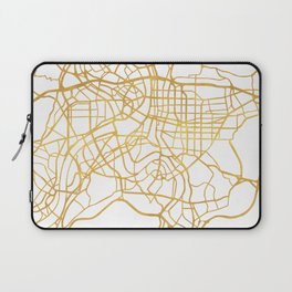 TAIPEI TAIWAN CITY STREET MAP ART Laptop Sleeve