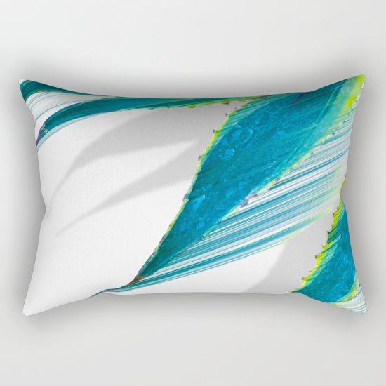 The soaring flight of the agave Rectangular Pillow