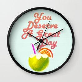 Tropical Cafe Wall Wall Clock