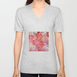 Modern contemporary pastel Blush and Peaches Abstract Unisex V-Neck