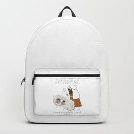 Christian Design - Good Shepherd and Satisfied Sheep. Psalm 23 Backpack