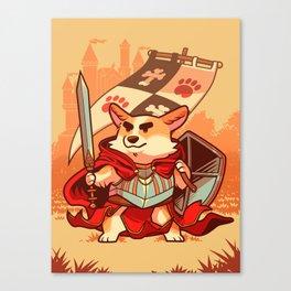 Corgi knight Canvas Print