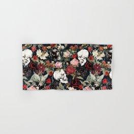 Vintage Floral With Skulls Hand & Bath Towel