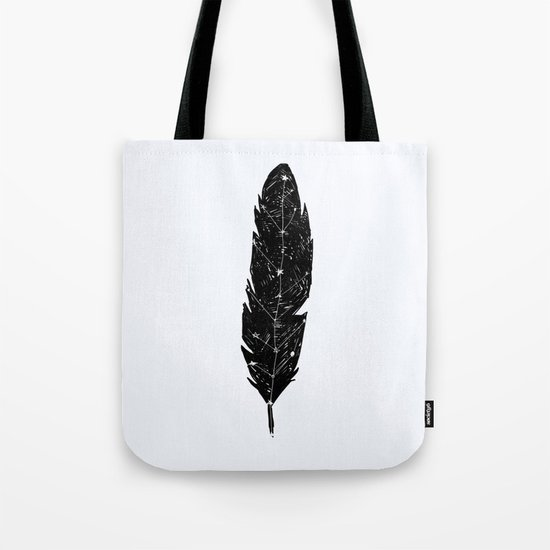 Constellation Feather Tote Bag