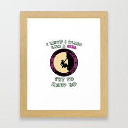 Climbing Climber Girlie Women Mountaineering Gift Framed Art Print