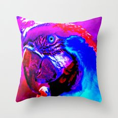 Vibrant Macaw Parrot Throw Pillow