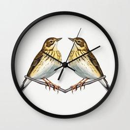 Tree pipit Wall Clock