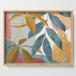 Abstract Tropical Art XIII Serving Tray