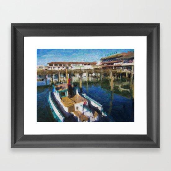 Fishermans Wharf - San Francisco Print No. 134 Framed Art Print