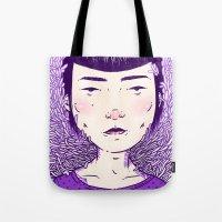 evil eye Tote Bags featuring Evil Eye. by Skullflower