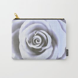 Big Pale Blue Rose Carry-All Pouch