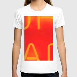 Red Neon Lettering T-shirt