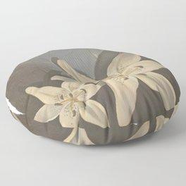 Shadowed lilies Floor Pillow