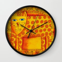 Patterned Leopard Wall Clock