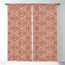Minimal Clay Mudcloth Blackout Curtain
