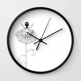 Chrysanthemum Moments Wall Clock