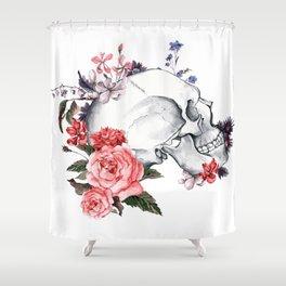 Roses Skull - Death's head Shower Curtain