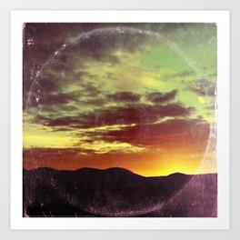 American Sunset As Vintage Album Art Art Print