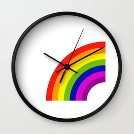 My Other Half Rainbow Right Matching T Shirt Wall Clock