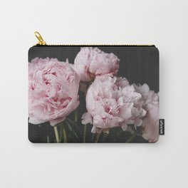 Peonies On Black No. 3 Carry-All Pouch