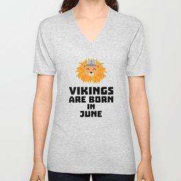 Vikings are born in June T-Shirt Dni2i Unisex V-Neck