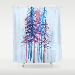 Minimalist Forest Shower Curtain