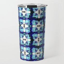 Blue F - blue birds pattern Travel Mug