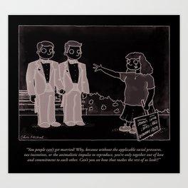Gay Marriage Art Print