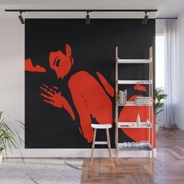Seductive Look Red & Black Wall Mural