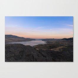Sunset Over Kamloops Lake Canvas Print