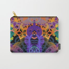 CHEERFUL FLORAL ORNAMENTIC Carry-All Pouch