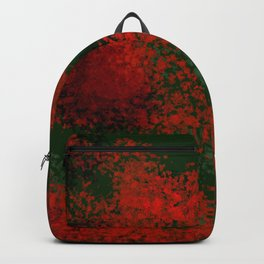 Christmas Fantasy in green and red Backpack