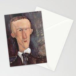 Amedeo Modigliani - Portrait of Blaise Cendrars.jpg Stationery Cards