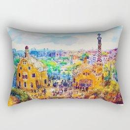 Park Guell Barcelona Rectangular Pillow