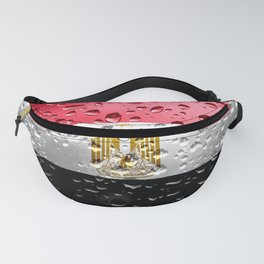 Flag of Egypt - Raindrops Fanny Pack